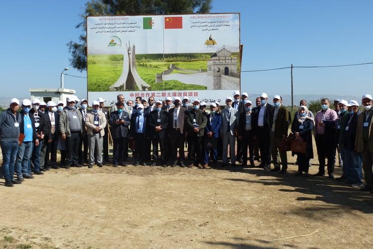 يوم توضيحي حول المشروع  الجزائري الصيني : تحسين الأراضي المالحة بالجزائر